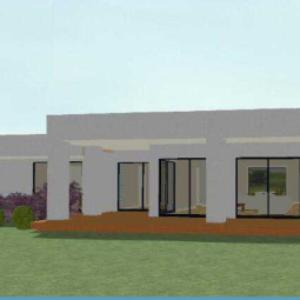 Sprawling One Story Modern House